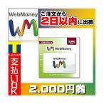 ウェブマネー WebMoney プリペイドカード 2000円分