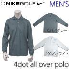 ショッピングoff ナイキ ゴルフ ウェア メンズ NIKE GOLF MENS 390216 LSトップス 4ドット オールオーバー プリント ロングスリーブ ポロシャツ STAY COOL 機能性 吸汗 DRI-FIT