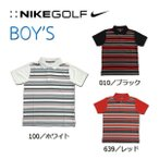 NIKE GOLF SSトップス 401497ナイキ ゴルフ ボーダーポロシャツDRI-FIT STAY COOL 吸汗子供 ジュニア おでかけ3colors ゴルフ プレゼント男の子 お