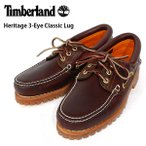 ティンバーランド メンズ シューズ デッキ モカシン 3アイレット クラシック ラグ ブラウン 靴 Timberland 30003 Heritage 3-Eye Classic Lug