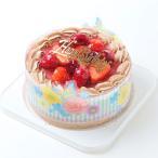 誕生日ケーキ/チョコ生・苺ケーキ5号/ポストカード無料/パーティークラッカープレゼント