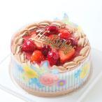 バースデーケーキ/チョコレート生・苺7号/ポストカード無料/パーティークラッカープレゼント