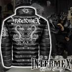 レザー調 中綿ジャケット メンズ ファッション オラオラ系  INTERMEX ITM-048 コブラ 防寒 上着 服 ヤクザ 刺繍 秋冬 ギャング チカーノ B系 バイカー