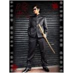 ポイント10倍 13050黒 BLOOD MONEY TOKYOストライプ柄マオカラースーツ 悪羅悪羅系 オラオラ系 派手 服
