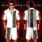 ポイント10倍 14012白×黒 BLOOD MONEY TOKYO-半袖セットアップジャージ 大きいサイズ メンズMen's悪羅悪羅系 オラオラ系 暴走族右翼 服