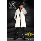 ポイント10倍 14060白 ヤクザ ブランドBLOOD MONEY TOKYOファーコート 服 オラオラ系 ヤカラグ悪羅悪羅系 ホストスーツ