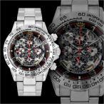 送料無料&ポイント10倍 1年間保証付 機械式スケルトンクロノグラフ腕時計009黒 自動巻き手巻き防水メンズ腕時計Men's紳士 ヤクザ 悪羅悪羅系 オラオラ系