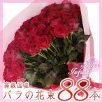 """ショッピングバラ 高級国産バラ 88本 花言葉は""""フォロー"""" ちょっとした気遣いやご友人ご家族のプレゼントに お祝い ギフト"""