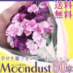 母の日 カーネーション ムーンダスト 花束50本 送料無料 カラーミックス 花束 薔薇 青いカーネーション ギフト