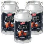 ポーランド クルフカ ミルク&ココアキャラメル 3缶セット ポーランドみやげ マーブル 貯金箱