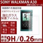 Sony WALKMAN A30 用ガラスフィルム 3.1インチ (NW-A35/NW-A35HN/NW-A36HN/NW-A37HN対応) 厚さ 0.3mm 9H硬度 2.5D