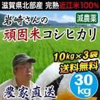 米 お米 30kg 5kg×6袋 コシヒカリ 滋賀県産 白米 玄米 岩崎農園 送料無料
