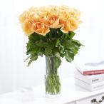 花瓶フラワー・フラワーベース シリンダー(クリア) オレンジバラ30本