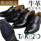 ビジネスシューズ メンズ 本革 TAKEZO 紳士靴 革靴 ストレートチップ Uチップ モンクストラップ ローファー 3E タケゾー
