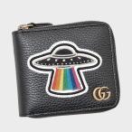 グッチ GUCCI UFO付き レザー コインウォレット ラウンドファスナー 折財布 ブラック 478138 CAONX 8346 送料無料