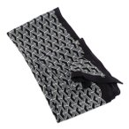 グッチ GUCCI シルク スカーフ 幾何学模様 マルチカラー ブラック基調×グレー 397975 4G005 1662