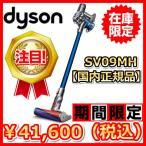 新品・送料無料 ダイソン Dyson V6 Fluffy  SV09MH コードレスクリーナー サイクロン式掃除機 ニッケル/ブルー(即納可能商品)