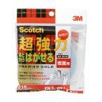 (まとめ)3M スコッチあとからはがせる超強力両面テープ プレミアゴールド 粗面用 15mm×3m SRR-15 1巻 〔×3セット〕