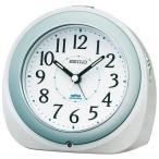 ショッピング目覚まし時計 セイコー クロック 目覚まし時計 自動点灯 電波 アナログ 夜でも見える 白 パール KR331W SEIKO
