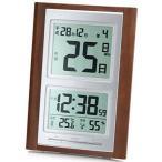 ADESSO(アデッソ) 目覚まし時計 日めくり 電波時計 六曜 温度 湿度 日付表示 記念日設定機能付き 置き掛け兼用 ブラウン NA-101