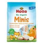 Holle(ホレ)有機ミニウエハース バナナ&オレンジ      100gx12個セット