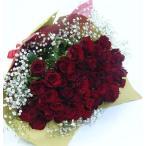 バラの花束/赤バラ60本&カスミ草花束 ブーケ