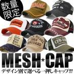 メッシュキャップ メンズ 【2個購入で 送料無料 】 帽子 デザインいろいろ 【メール便不可】 CAP ロゴ ダメージ アビレックス AVIREXなど 春夏