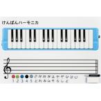 ◆ ZEN-ON・全音 / ZKM-55 鍵盤ハーモニカ指導マグネットシート(五線入り)