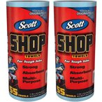 【送料無料】Scott SHOP TOWELS 『スコット カーショップタオル 2本』 55枚x2個 2ロール ペーパーウエス ペーパータオル 2巻 業務用 カー用品 多目的 万能