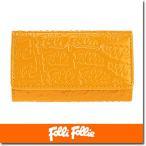 フォリフォリ Folli Follie キーケース レディース  ロゴマニア WA0L034SY/YEL イエロー