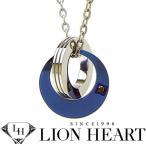 ショッピングLION ライオンハート ネックレス メンズ LION HEART ダブルリングネックレス 04N153SM ステンレスネックレス
