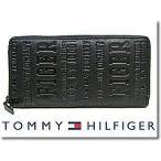 ショッピングHILFIGER トミーヒルフィガー 財布 TOMMY HILFIGER 長財布 ラウンドファスナー ブラック 31TL13X026