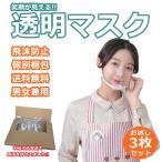 即納 お試し3個入り 透明マスク 衛生マスク クリアマスク 飲食店 接客業 フェイス シールド 医療 育児 イベント 軽量 軽量マスク 繰り返し使える G088-3MAI