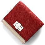 フェンディ 二つ折り財布 財布 レディース セレリア ピーカブー ロッソレッド&カメリアアイボリー&パラディオ 8M0399 SMT F15W7 FENDI