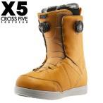 【スノーブーツ】CROSS FIVE X5(クロスファイブ) GTX-BOA(ダブルボア)MUSTARD 【350】