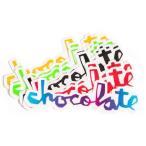 """【スケートボードステッカー】CHOCOLATE(チョコレート) """"CHUNK STICKER 3"""" サイズ:8cm×2.5cm【750】"""