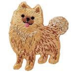 かわいい犬 モチーフの刺繍ワッペン ポメラニアン