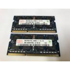 ★年末在庫処分★先行セール★数量限定★【中古良品】ノートPC用メモリ HYNIX DDR3 1066 PC3-8500S 2GB 2枚セット 計4GB 増設メモリ【送料無料】