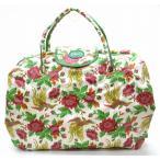 (バッグ)FEILER フェイラー ハンドバッグ トートバッグ 二つ折り 花柄 フラワー PVC 白 ホワイト マルチ(u)