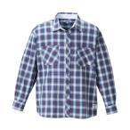 大きいサイズ メンズ OUTDOOR PRODUCTS ロールアップ長袖チェックシャツ ブルー×レッド 1157-8101-1 3L 4L 5L 6L 8L