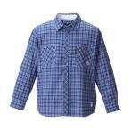 大きいサイズ メンズ OUTDOOR PRODUCTS ロールアップ長袖チェックシャツ ネイビー×ブルー 1157-8101-2 3L 4L 5L 6L 8L