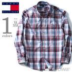 ショッピングサイズ 大きいサイズ メンズ TOMMY HILFIGER トミーヒルフィガー 長袖チェック柄ボタンダウンシャツ USA直輸入 78b1416