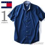 ショッピングサイズ 大きいサイズ メンズ TOMMY HILFIGER トミーヒルフィガー 半袖総柄カジュアルシャツ USA直輸入 78b1423