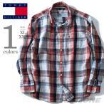 ショッピングサイズ 大きいサイズ メンズ TOMMY HILFIGER トミーヒルフィガー 長袖チェックボタンダウンシャツ USA直輸入 8878b1267