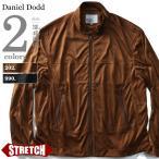 大きいサイズ メンズ DANIEL DODD ポリスウェードシングルライダースジャケット azb-1371