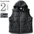 大きいサイズ メンズ DANIEL DODD 杢柄ポンチ中綿ベス