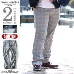ショッピングサイズ 大きいサイズ メンズ SARTORIA BELLINI チェック柄レーザープリントデニムパンツ 秋冬新作 azd-196
