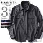 大きいサイズ メンズ SARTORIA BELLINI 長袖杢チェックレギュラーシャツ azsh-160411