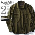 大きいサイズ メンズ SARTORIA BELLINI 長袖ミリタリーオーバーシャツ azsh-160415