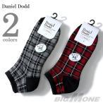 ショッピングサイズ 大きいサイズ メンズ 28〜32cm DANIEL DODD チェッカー柄クルーソックス 靴下 春夏新作 azsk-17015
